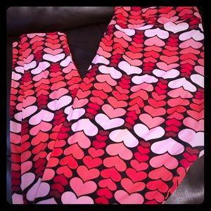 Lularoe TC Valentine Leggings